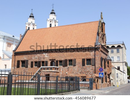 The House of Perkunas (Thunder) built in 15th century is the oldest structure in Kaunas, the second largest city in Lithuania.