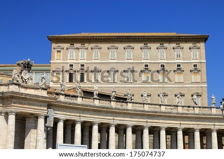 The house Pope of in Vatican,  Rome, Italy
