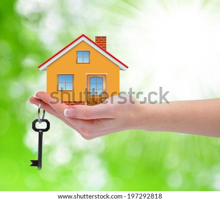 The house with key in hand - stock photo