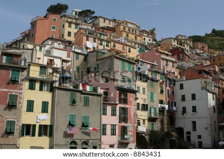 The houses of Cinque Terre, Italy - stock photo