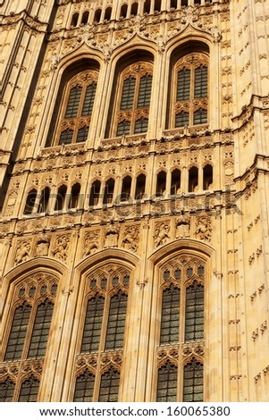 The Houses of Parliament. London. UK, detail - stock photo