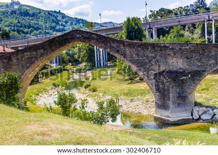 The humpback of bridge of San Donato in Modigliana in Italy reminds of old labors: built in XVIII century itâ??s also called The Bridge of The Lady and it has a medieval structure with the three archs