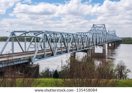 The I-20 bridge over the Mississippi River, at Vicksburg, MS