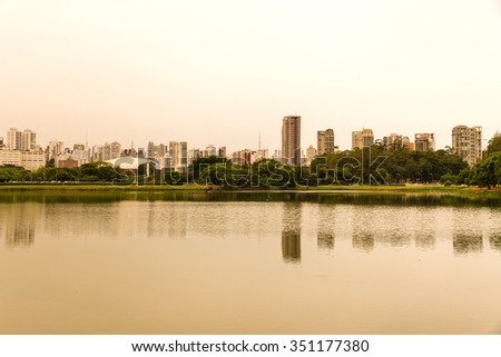 The Ibirapuera Park in Sao Paulo, Brazil.