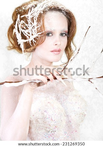 The ice princess  - stock photo
