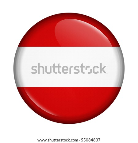 The icon with  flag of Austria Isolated on white background