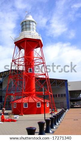 The iconic lighthouse at Port Adelaide (Australia). - stock photo