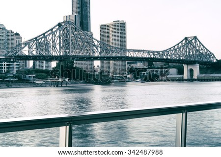 The iconic Story Bridge in the afternoon. Brisbane, Queensland, Australia