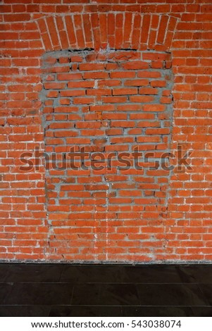 The idea of design embossed wall of an old brick textured