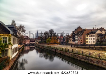 The Ill river in Petite France area, Strasbourg