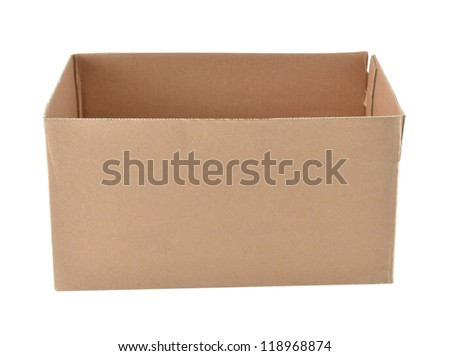 The illustration of cardboard packaging box