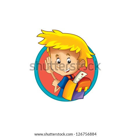 The illustration of the kids - smiling faces - in icon form - in circle - ellipse - drawing for children - decor good for ad or wrapping - banner