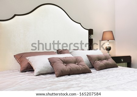 The image of a bed - stock photo