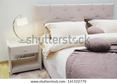 The image of a bedroom interior - stock photo