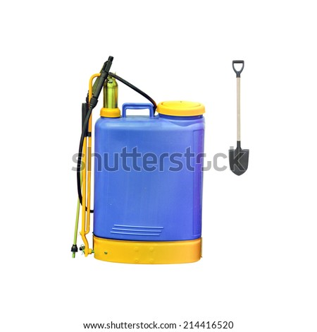 The image of a blue sprayer - stock photo