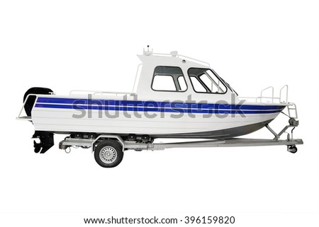 The image of a boat - stock photo