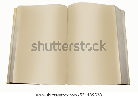 Blank Pages Of A Book