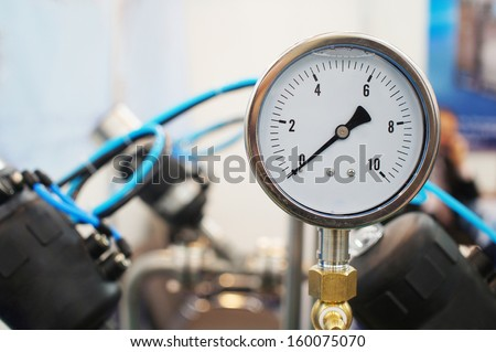 the image of a Close up of a pressure-gauge                - stock photo