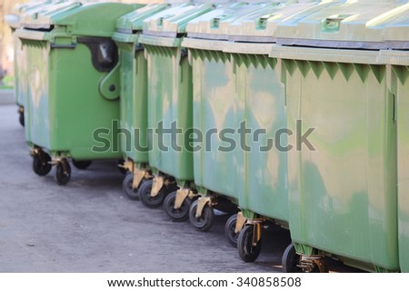 the image of a garbage bins - stock photo