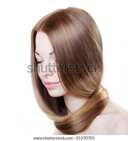 The image of a girl with beautiful hair - stock photo