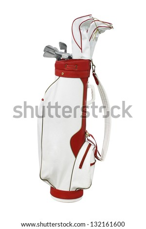The image of a golf bag - stock photo