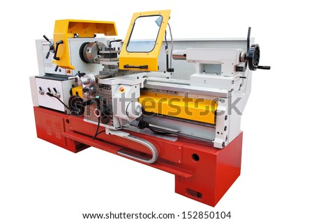 The image of a lathe - stock photo