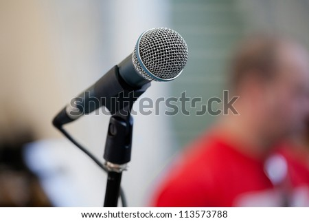 The image of a microphone