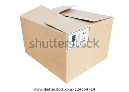 The image of a parcel box