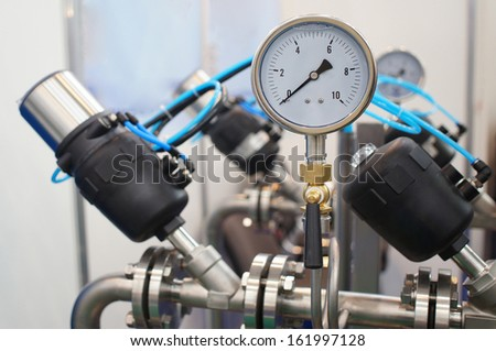 the image of a pressure-gauge - stock photo