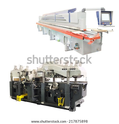 The image of a woodworking machine