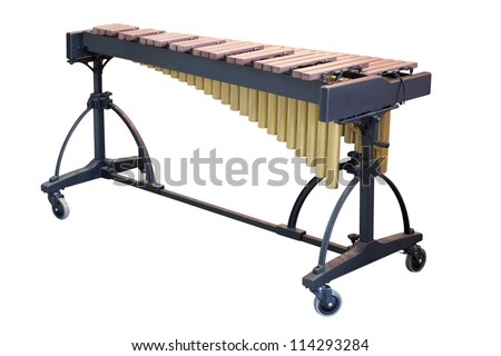 The image of a xylophone under a white background - stock photo