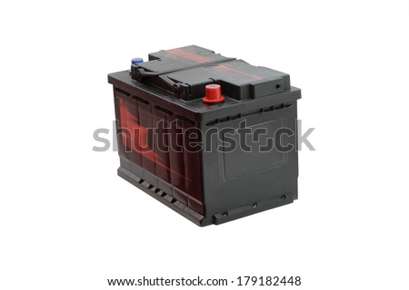 The image of an accumulator isolated - stock photo