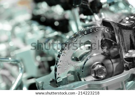 The image of an engine  - stock photo