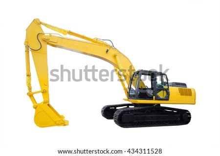 The image of an excavator