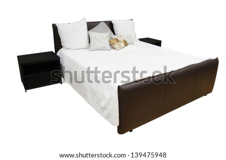The image of an isolated bedroom - stock photo