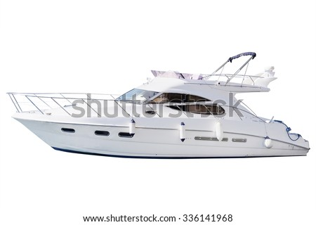 The image of an passenger motor boat - stock photo