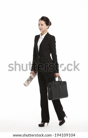 the image of Asian business woman - stock photo