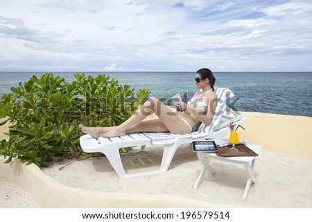 the image of beautiful woman in Boracay resort