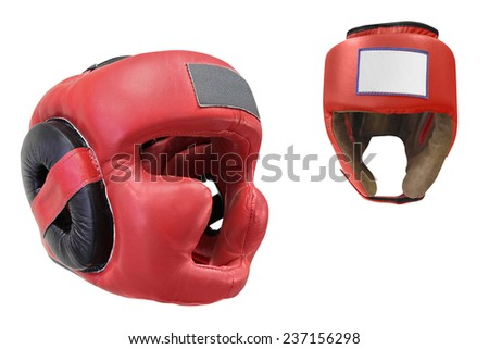 The image of boxing helmet