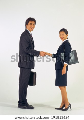The image of Business couple in Asia