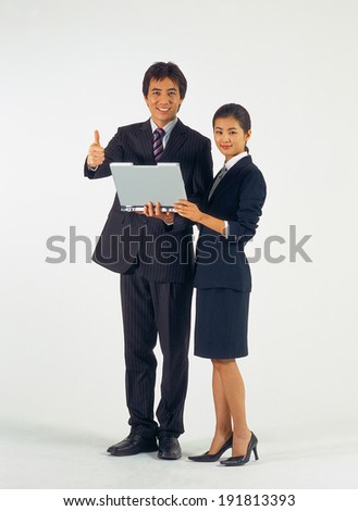 The image of Business couple in Korea, Asia