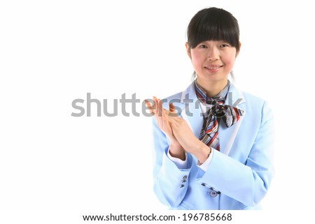 The image of business woman in Korea, Asia