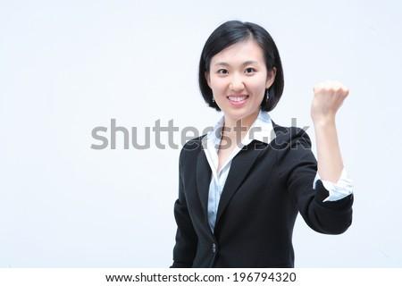 The image of businesswoman in Korea, Asia - stock photo