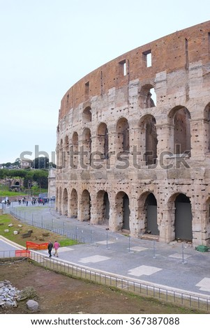 The image of Coliseum in Roma, Italy