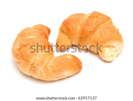 The image of croissants isolated on white