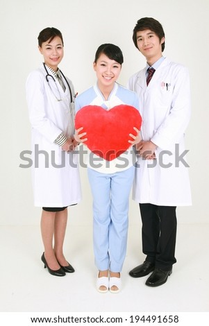 The image of doctor and nurse in Korea, Asia