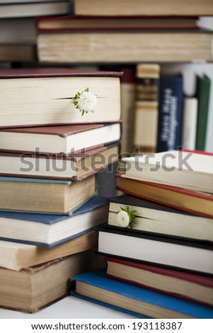 the image of flowers in books