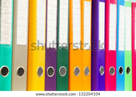 The image of folders - stock photo