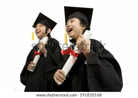 The image of graduating students in Korea,Asia