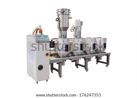 The image of industrial metering and mixing device
